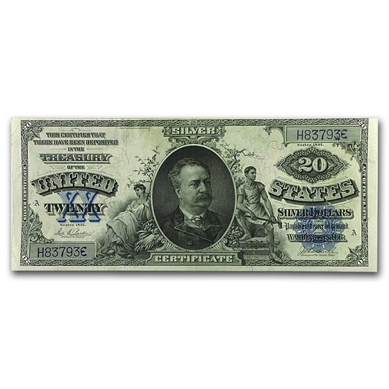 1891 $20 Silver Certificate Daniel Manning AU