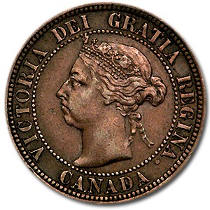 1891 Canada Large Cent VF (Lg Date)