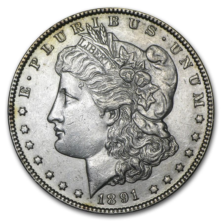 1891-CC Morgan Dollar AU