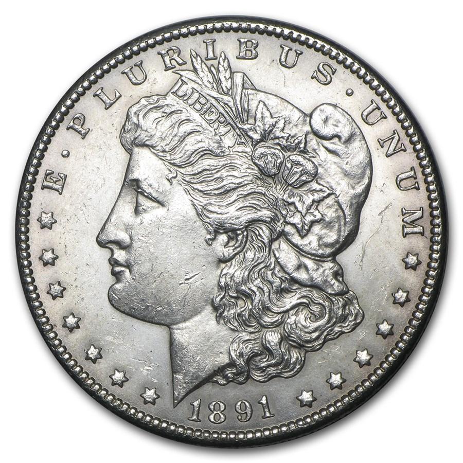 1891-CC Morgan Dollar BU