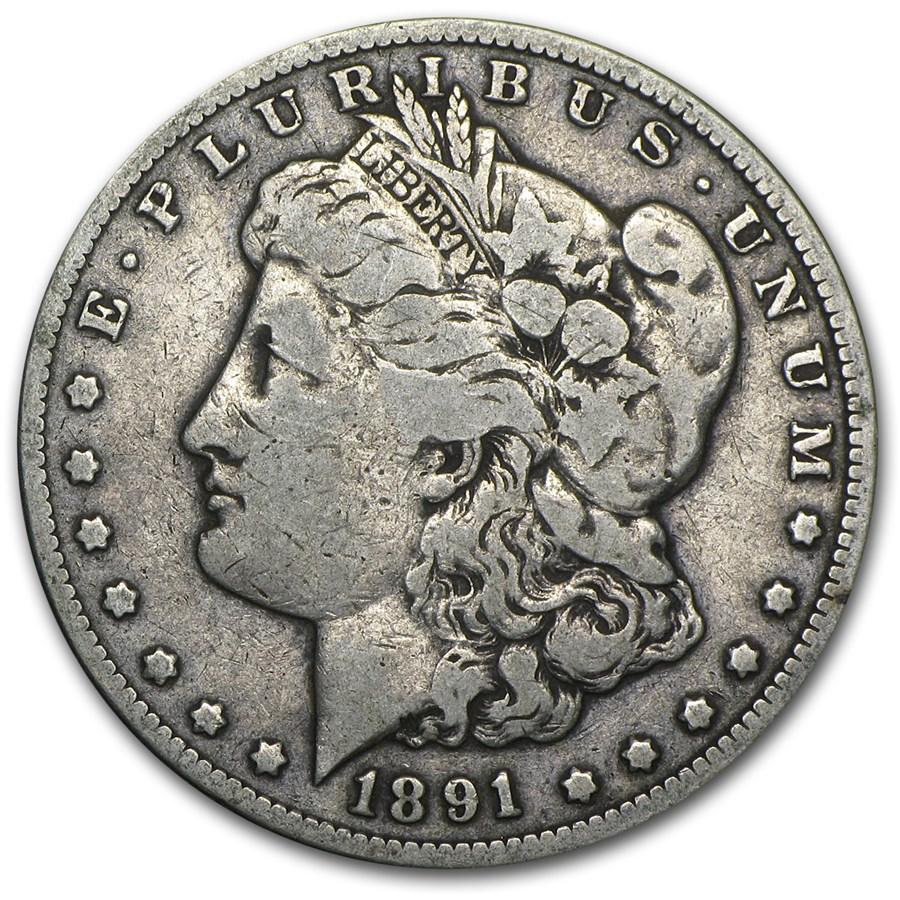 1891-CC Morgan Dollar Fine