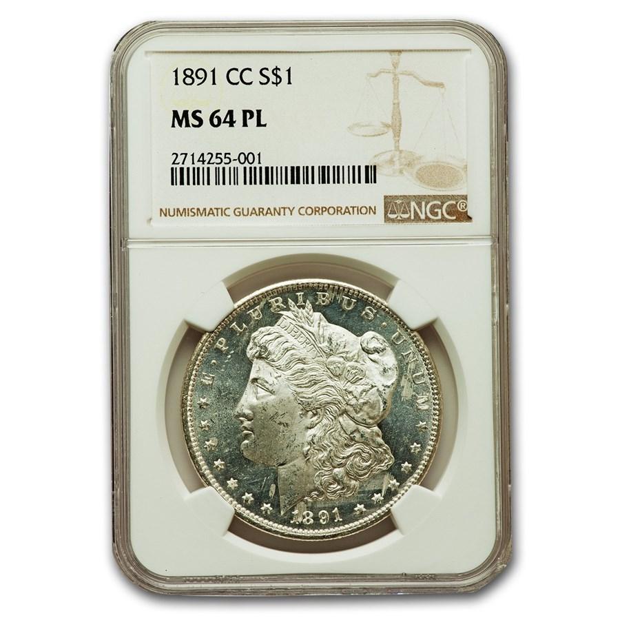 1891-CC Morgan Dollar MS-64 NGC (PL)