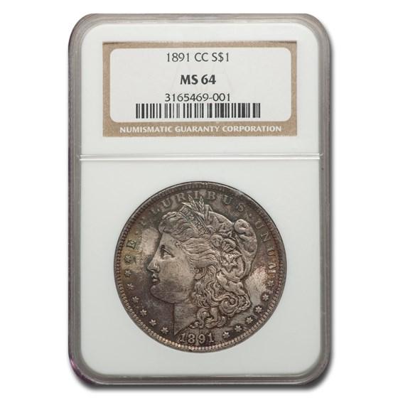 1891-CC Morgan Dollar MS-64 NGC