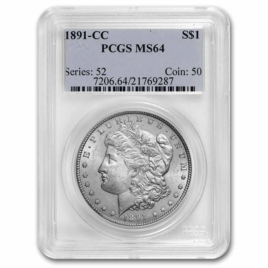 1891-CC Morgan Dollar MS-64 PCGS