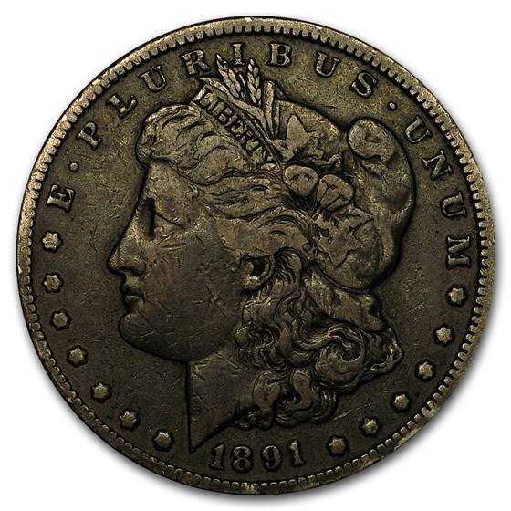1891-CC Morgan Dollar VF Details (Damaged)