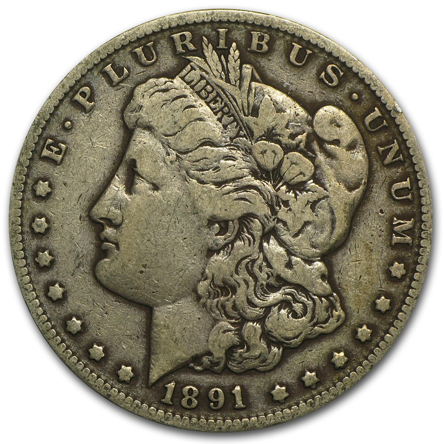 1891-CC Morgan Dollar VF