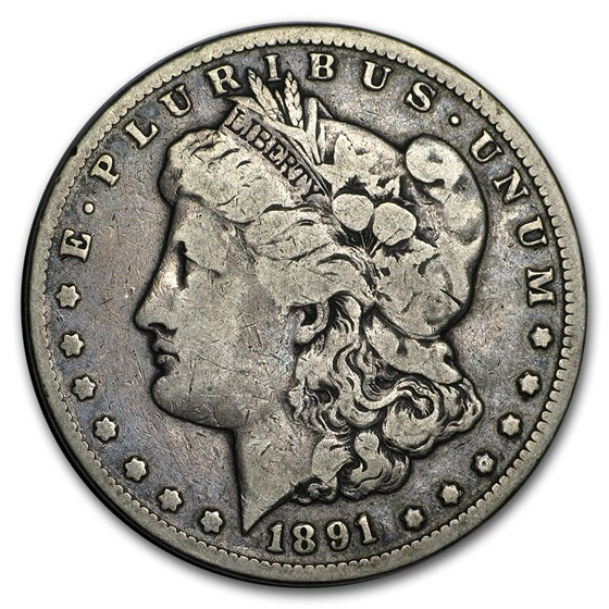 1891-CC Morgan Dollar VG