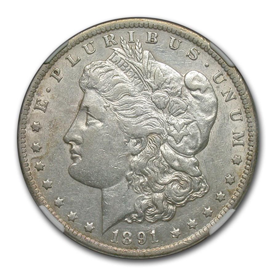 1891-CC Morgan Dollar XF-45 NGC (VAM-3 Spitting Eagle)