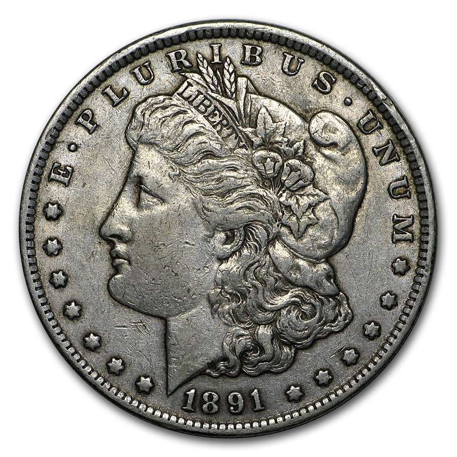1891-CC Morgan Dollar XF