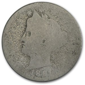 1891 Liberty Head V Nickel AG