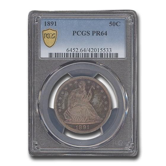 1891 Liberty Seated Half Dollar PR-64 PCGS