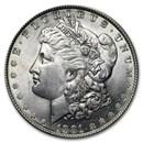 1891 Morgan Dollar AU-58