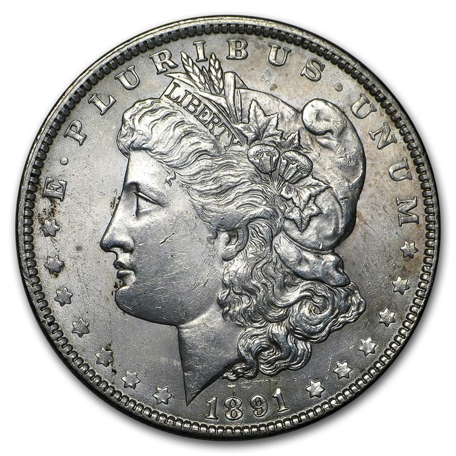 1891 Morgan Dollar AU
