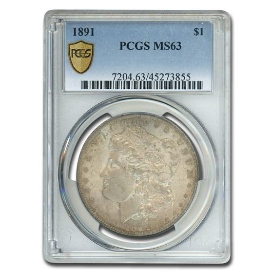 1891 Morgan Dollar MS-63 PCGS