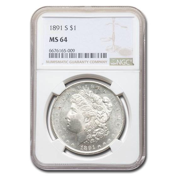 1891 Morgan Dollar MS-64 NGC