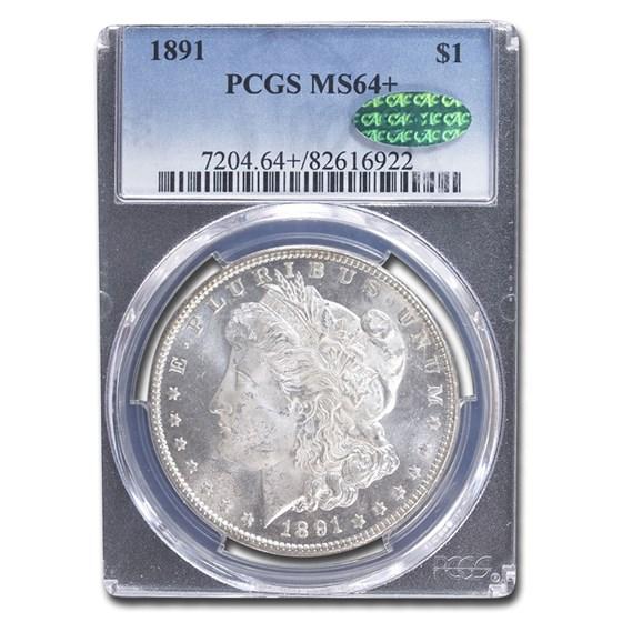 1891 Morgan Dollar MS-64+ PCGS CAC