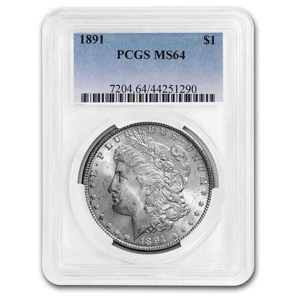 1891 Morgan Dollar MS-64 PCGS