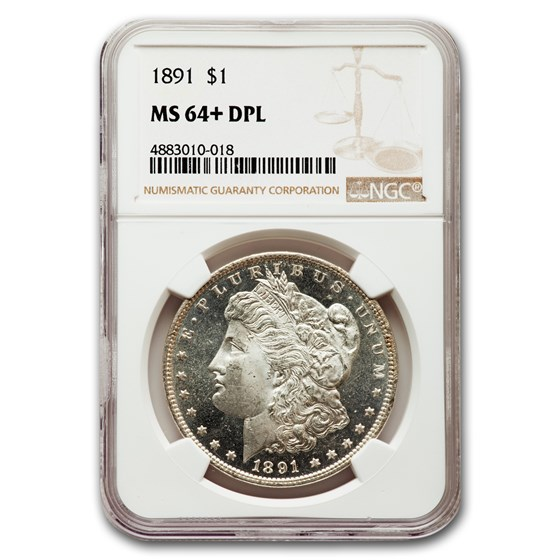 1891 Morgan Dollar MS-64+ PL NGC