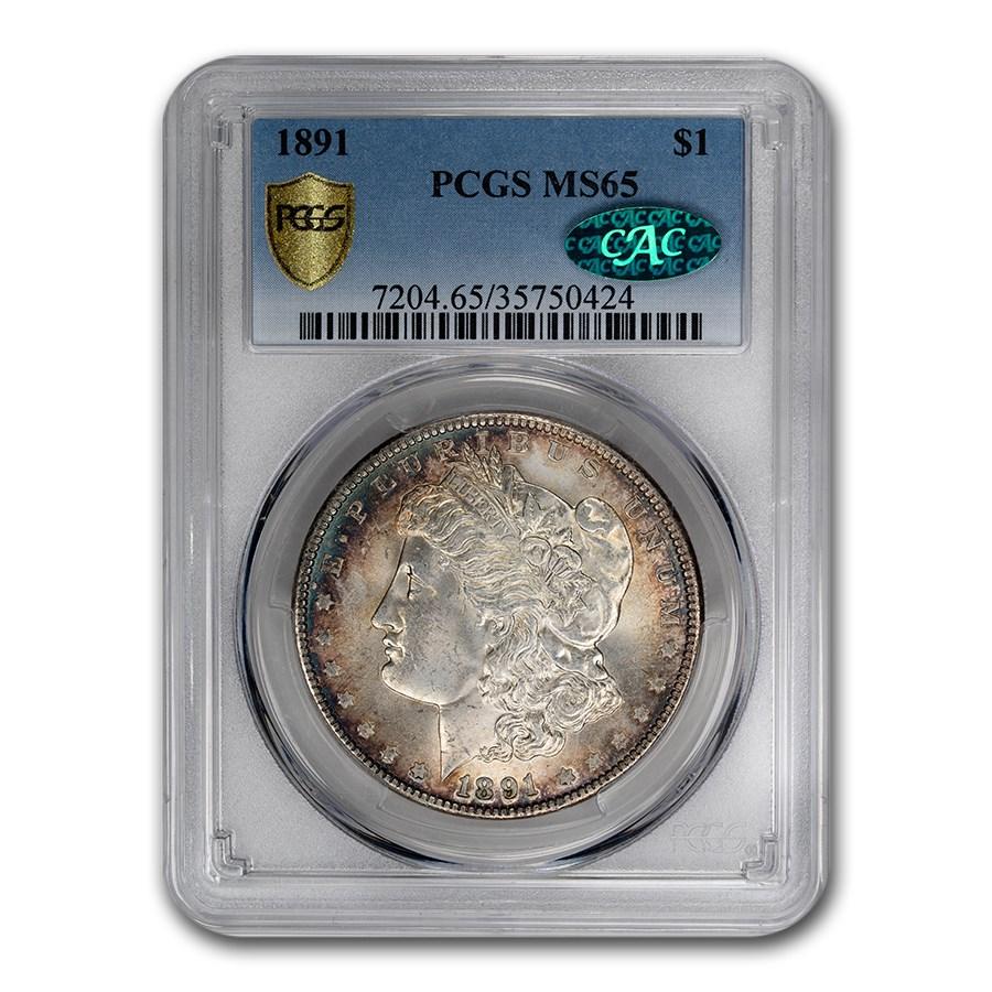 1891 Morgan Dollar MS-65 PCGS CAC