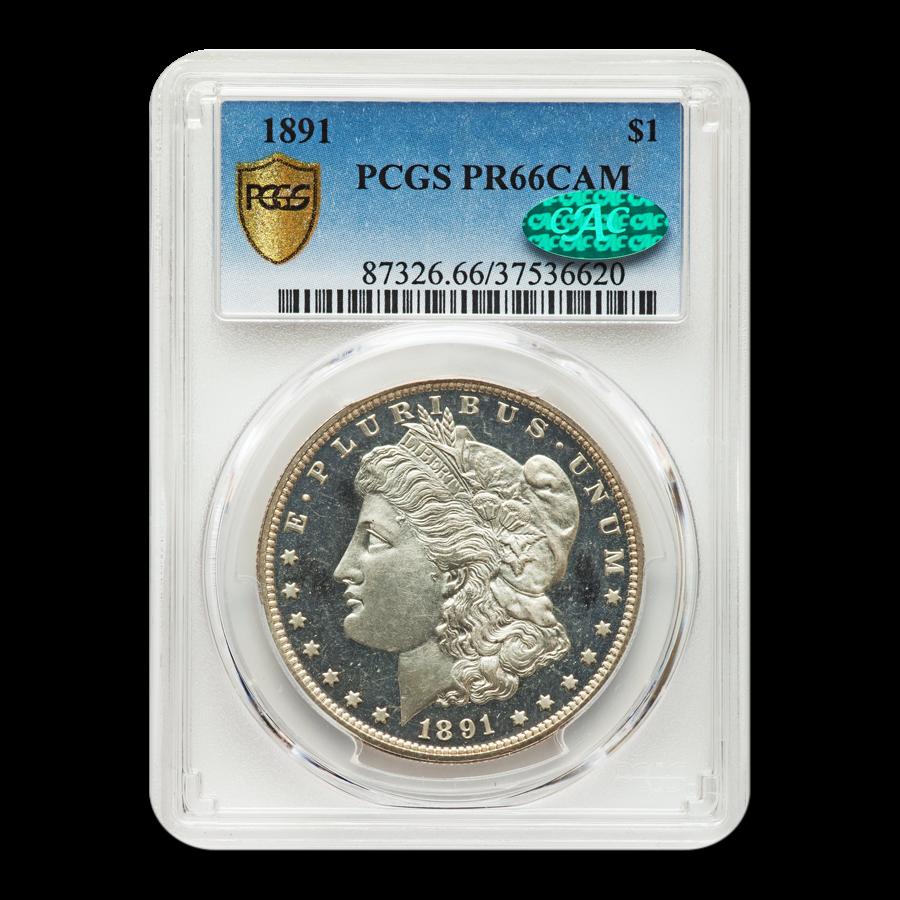 1891 Morgan Dollar PR-66 Cameo PCGS CAC