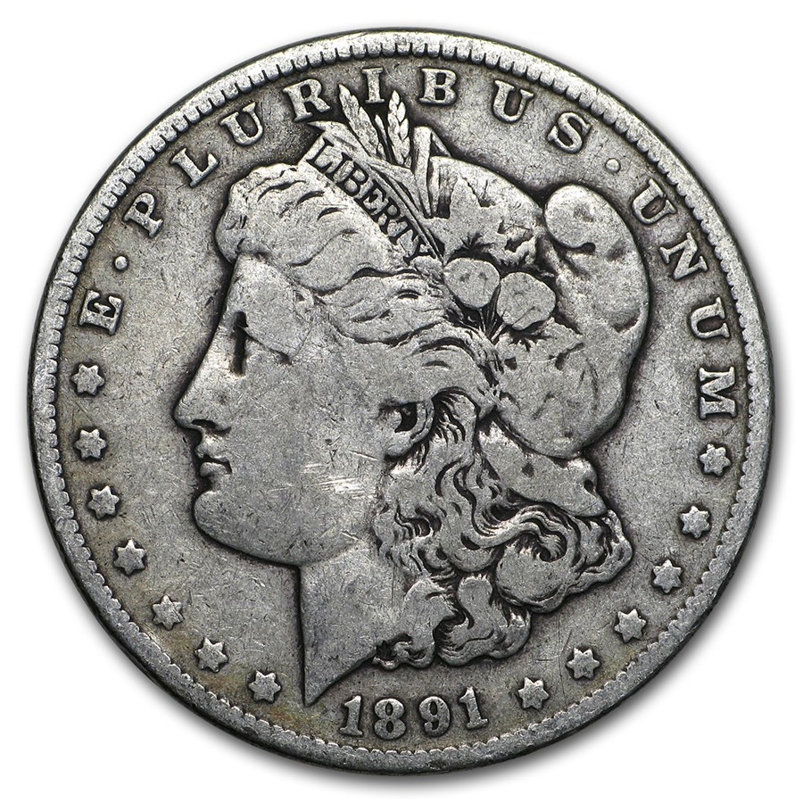 1891 Morgan Dollar VG/VF