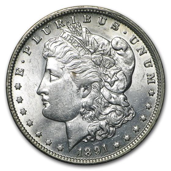 1891-O Morgan Dollar AU-58