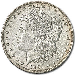 1891-O Morgan Dollar MS-60 (Cleaned)