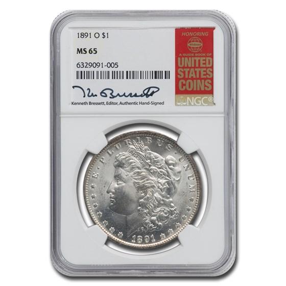 1891-O Morgan Dollar MS-65 NGC