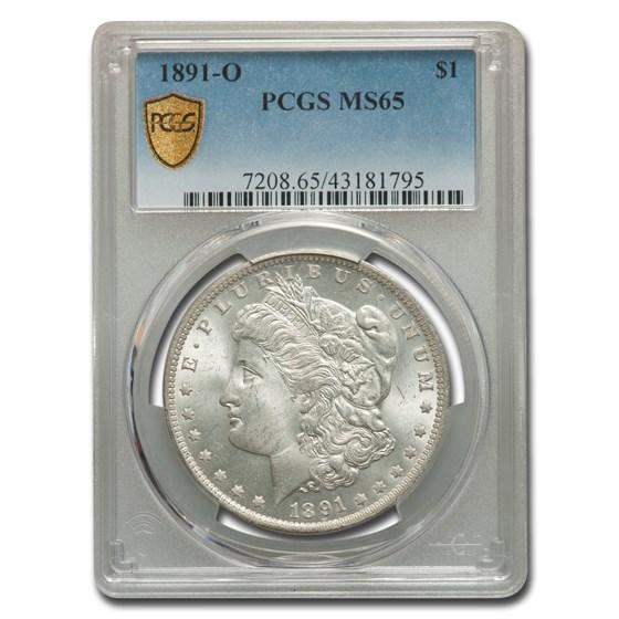 1891-O Morgan Dollar MS-65 PCGS
