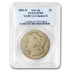 1891-O Morgan Dollar Poor-1 PCGS (VAM-1A, Clashed E)