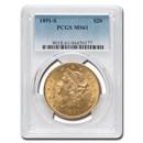 1891-S $20 Liberty Gold Double Eagle MS-61 PCGS