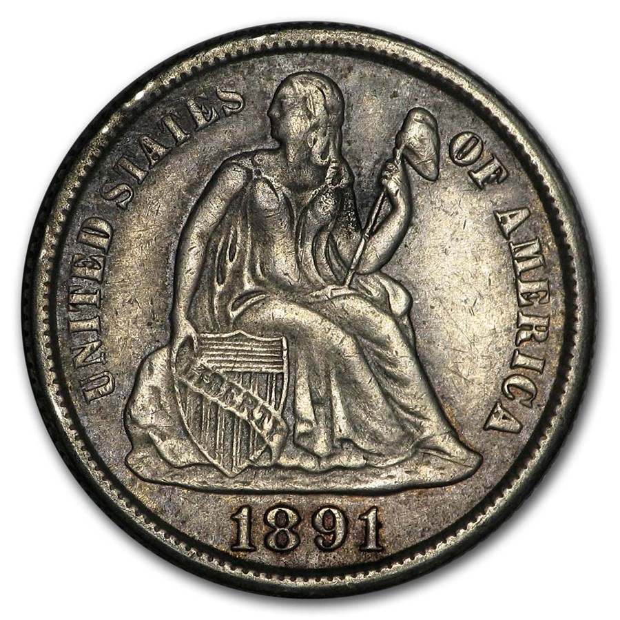 1891-S Liberty Seated Dime XF