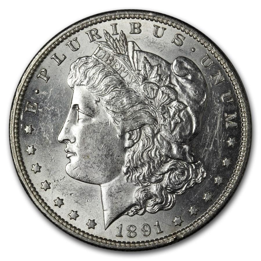 1891-S Morgan Dollar AU-58