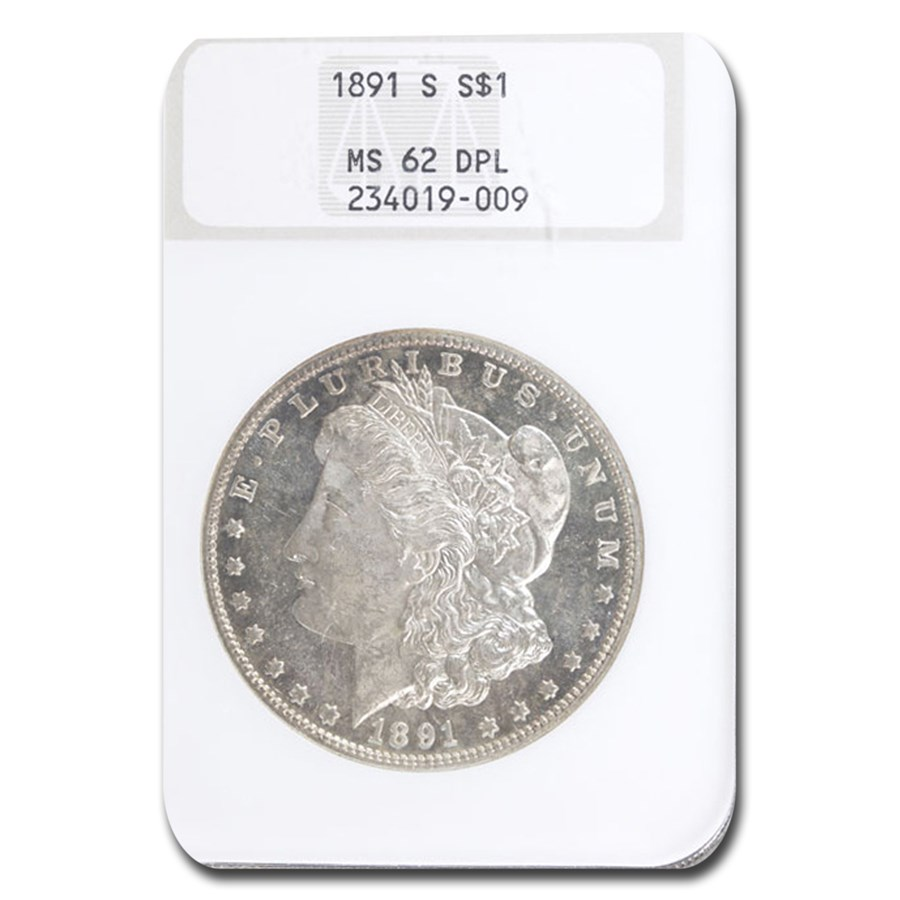 1891-S Morgan Dollar MS-62 NGC (DPL)