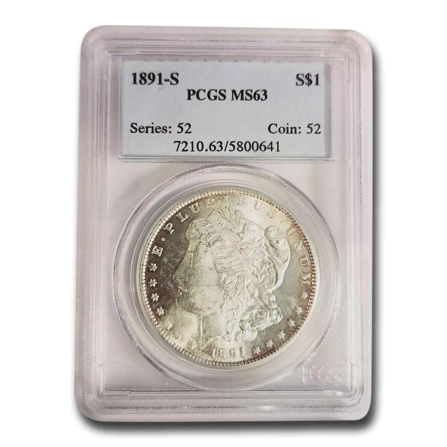 1891-S Morgan Dollar MS-63 PCGS