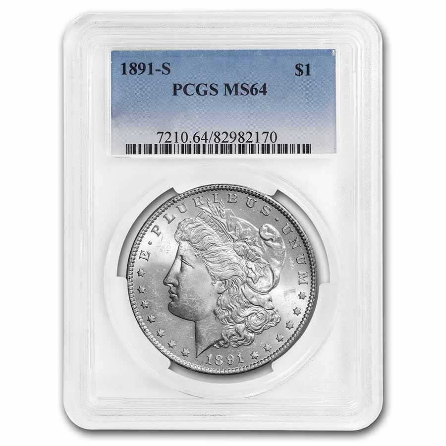 1891-S Morgan Dollar MS-64 PCGS