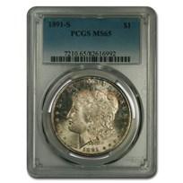 1891-S Morgan Dollar MS-65 PCGS (Toned)