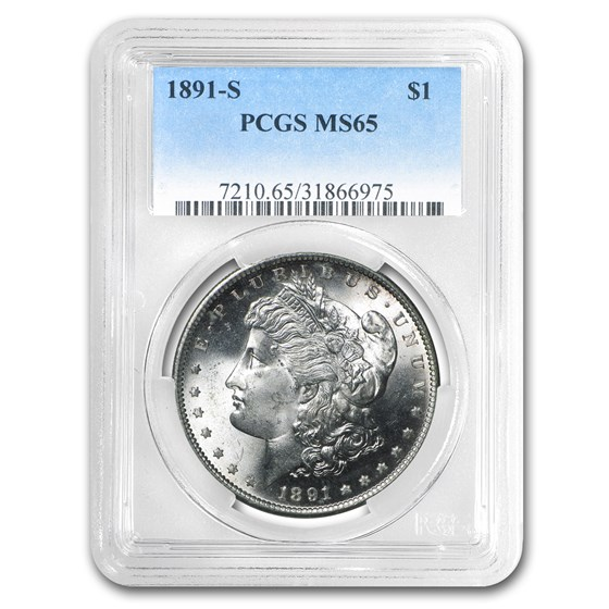 1891-S Morgan Dollar MS-65 PCGS