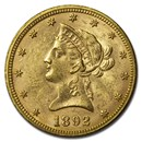 1892 $10 Liberty Gold Eagle AU