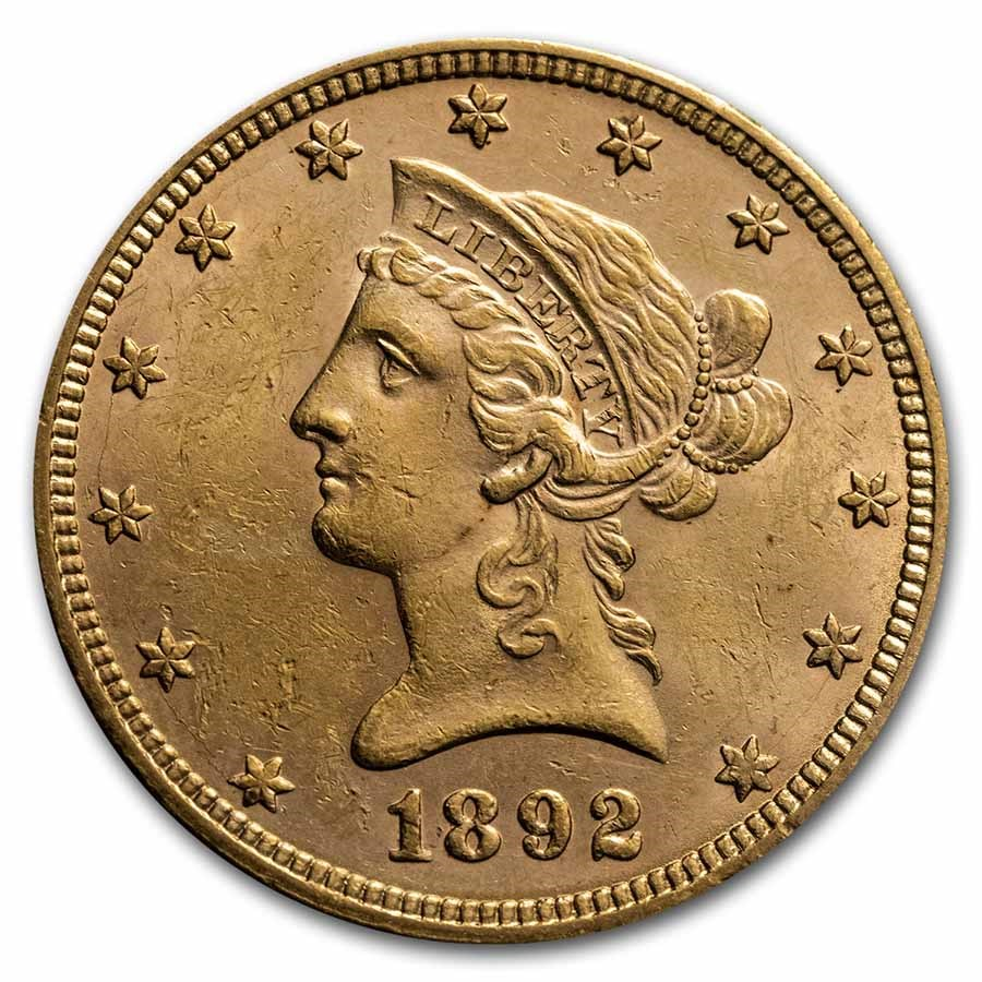1892 $10 Liberty Gold Eagle BU