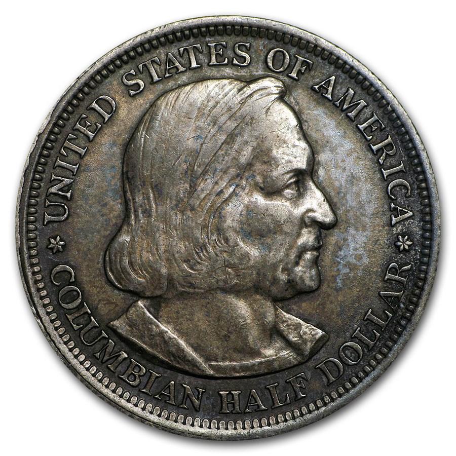 1892-1893 Columbian Expo Silver Half Dollar Avg Circ