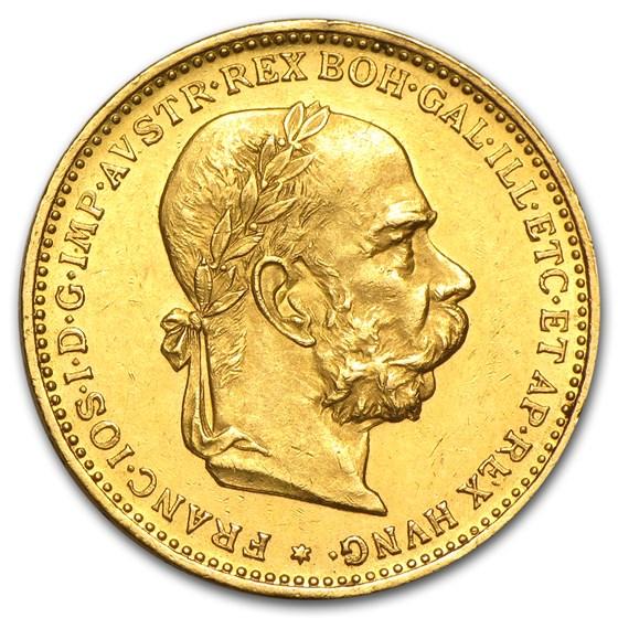 1892-1912 Austria Gold 20 Coronas AU