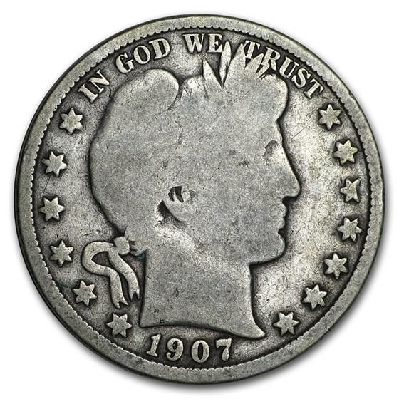 1892-1915 Barber Half Dollars Avg Circ