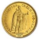 1892-1915 Hungary Gold 10 Korona Franz Joseph Avg Circ