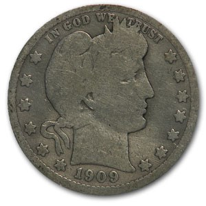 1892-1916 Barber Quarter Culls