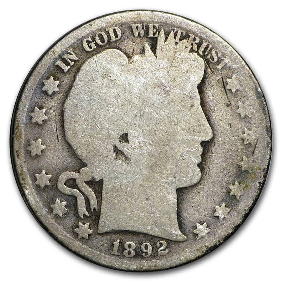 1892 Barber Half Dollar AG