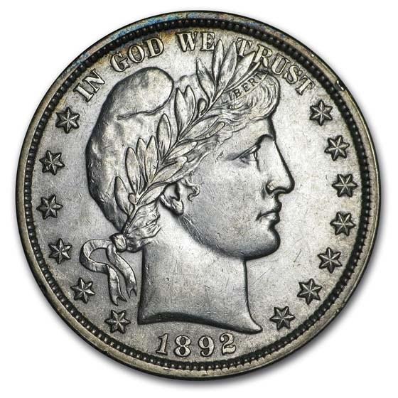 1892 Barber Half Dollar AU