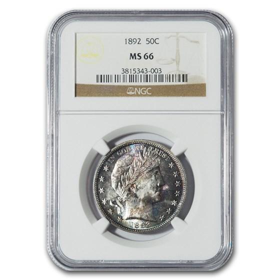 1892 Barber Half Dollar MS-66 NGC