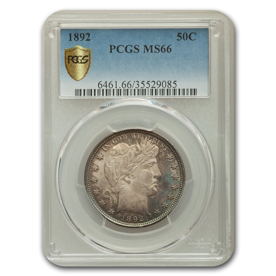 1892 Barber Half Dollar MS-66 PCGS