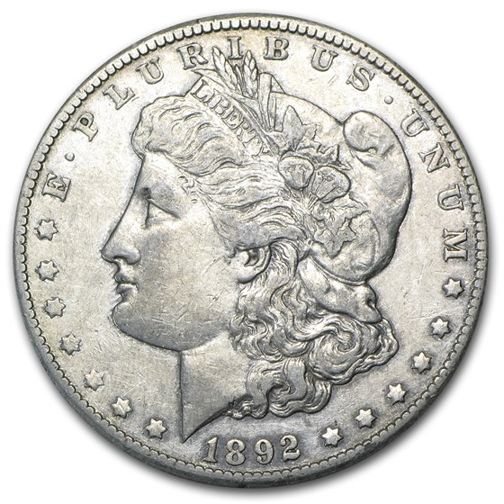 1892-CC Morgan Dollar AU